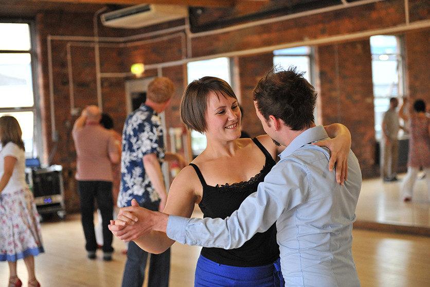 Ballroom class with Paula Clark © Brian Slater