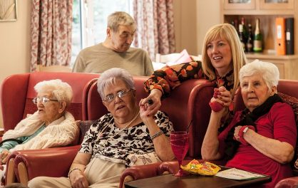 Dance session in Sheffield Care Home © Charlie Armitage