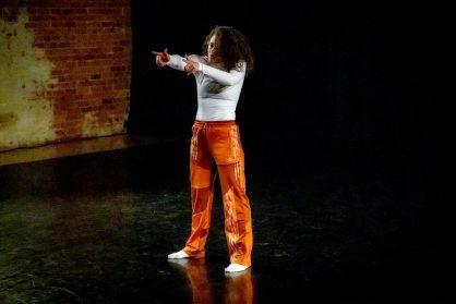 Image: Alexah Tomey-Alleyne at No Dress Code, Yorkshire Dance, November 2019